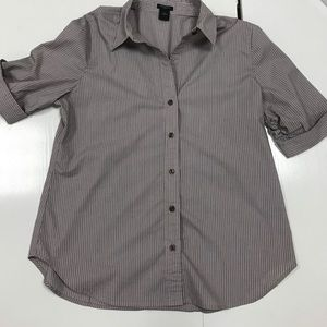 ANN TAYLOR striped button up shirt